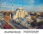 the sehzade mosque or princes... | Shutterstock . vector #743553439