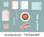 stationary.a planner. to di... | Shutterstock .eps vector #743566489