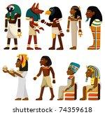cartoon pharaoh icon | Shutterstock .eps vector #74359618