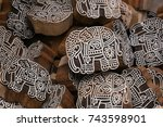 block printing for textile in...   Shutterstock . vector #743598901