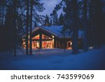 A Cozy Wooden Cabin Cottage...