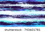 watercolor stripes in grunge... | Shutterstock .eps vector #743601781
