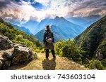 inca trail  peru   august 03 ... | Shutterstock . vector #743603104