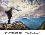 inca trail  peru   august 03 ... | Shutterstock . vector #743603134