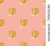 watercolor cloud smear seamless ...   Shutterstock .eps vector #743610184