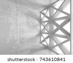 abstract geometric concrete... | Shutterstock . vector #743610841