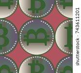 bitcoin electronic coins... | Shutterstock .eps vector #743611201