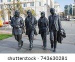 liverpool  england october 27... | Shutterstock . vector #743630281