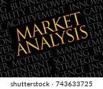 market analysis word cloud ... | Shutterstock . vector #743633725