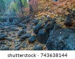colors of autumn in sedona... | Shutterstock . vector #743638144