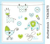 scrapbook design elements cute... | Shutterstock .eps vector #74363875