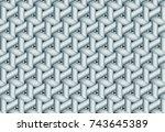 geometric pattern for embossed... | Shutterstock .eps vector #743645389