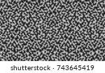 hexagon pattern for embossed... | Shutterstock .eps vector #743645419