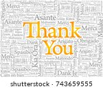 thank you word cloud in... | Shutterstock . vector #743659555