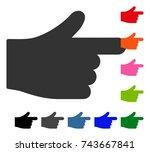 index hand icon. flat gray...