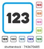 digits icon. flat gray...