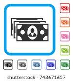 banknotes icon. flat gray...
