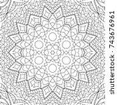 zentangle. black and white... | Shutterstock .eps vector #743676961