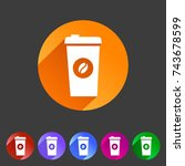 coffee cup coffee bean icon... | Shutterstock . vector #743678599