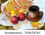 still life photo with apples ... | Shutterstock . vector #743678761