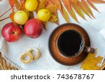 still life photo with apples ... | Shutterstock . vector #743678767