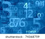 blue numbers mathematical math background - stock photo