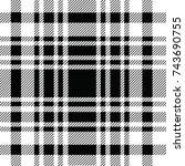 fabric plaid pattern  | Shutterstock .eps vector #743690755