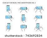 hand holding modern bezel free...   Shutterstock .eps vector #743692834