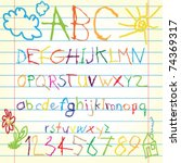 Colored Alphabet   Vector...