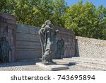 samuel fortress  bulgaria ... | Shutterstock . vector #743695894