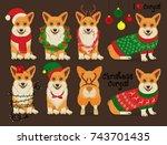 Corgis Dog Christmas Set....