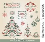 collection of ornamental...   Shutterstock .eps vector #743702905