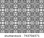 ornament with elements of black ...   Shutterstock . vector #743706571
