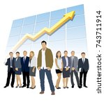 successful business team. one... | Shutterstock .eps vector #743711914
