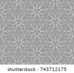 seamless linear pattern with... | Shutterstock .eps vector #743712175