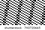 abstract background with mosaic.... | Shutterstock . vector #743720665