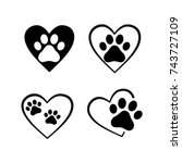Cat And Dog Paw Print Inside...