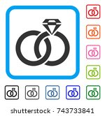 Wedding Rings With Gem Icon....