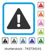 warning icon. flat gray... | Shutterstock .eps vector #743734141