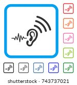 listen and transmit icon. flat... | Shutterstock .eps vector #743737021