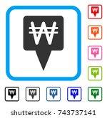 korean won map pointer icon....