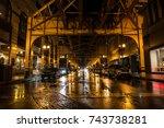 night empty american city... | Shutterstock . vector #743738281