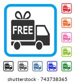 free delivery icon. flat gray...