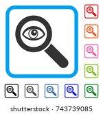 eye explore icon. flat grey...