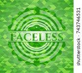 faceless green mosaic emblem | Shutterstock .eps vector #743746531