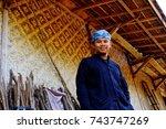 baduy  indonesia   october 15 ... | Shutterstock . vector #743747269