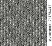 abstract herringbone hatching... | Shutterstock .eps vector #743751397