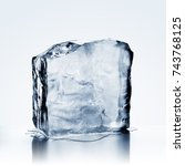 cold blue crystal clear frozen... | Shutterstock . vector #743768125