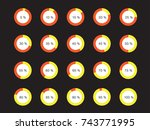 circle percentage performance... | Shutterstock .eps vector #743771995