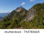 mount forgotten peak and area... | Shutterstock . vector #743783665